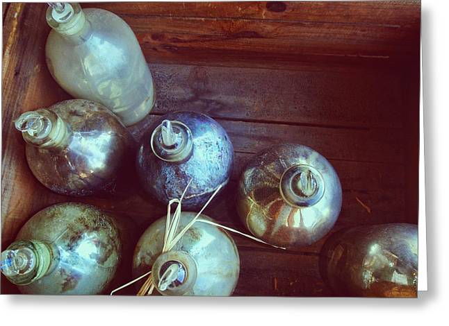 Bottled Time Greeting Card by JAMART Photography