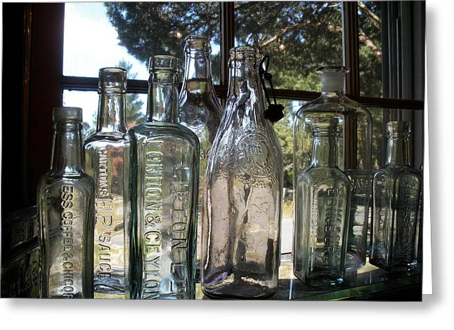 Bottled Up Greeting Card by Richard Mansfield
