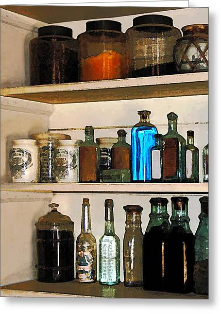 Bottles And Jars Greeting Card