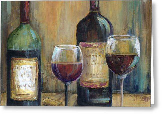 Bottles Of Red Greeting Card by Marilyn Dunlap