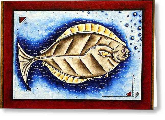 Bottom Of The Sea Creature Original Madart Painting Greeting Card by Megan Duncanson