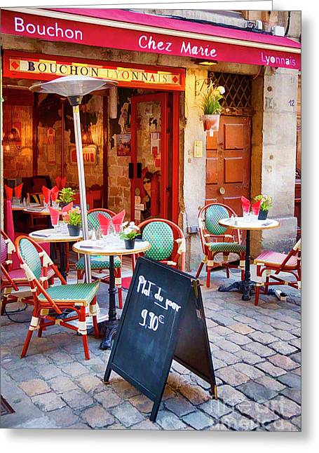 Bouchon Lyonnais Greeting Card by George Oze