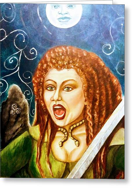 Boudicca  Let Not Our Daughters Be Forgotten Greeting Card
