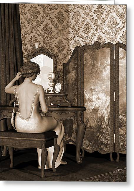 Boudoir Reflection Greeting Card by Jayne Wilson