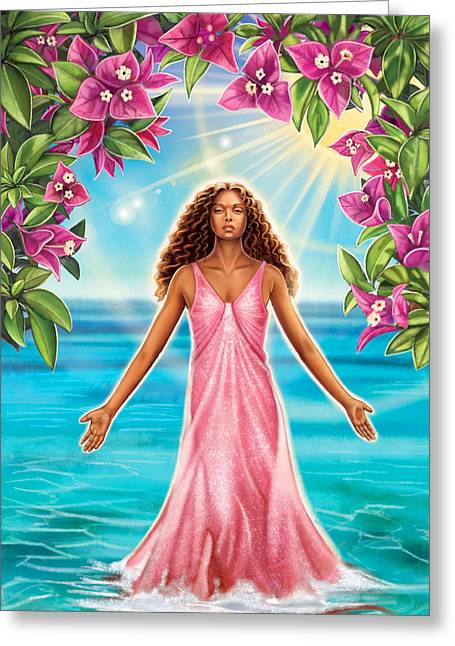 Bougainvillea - Purify Greeting Card