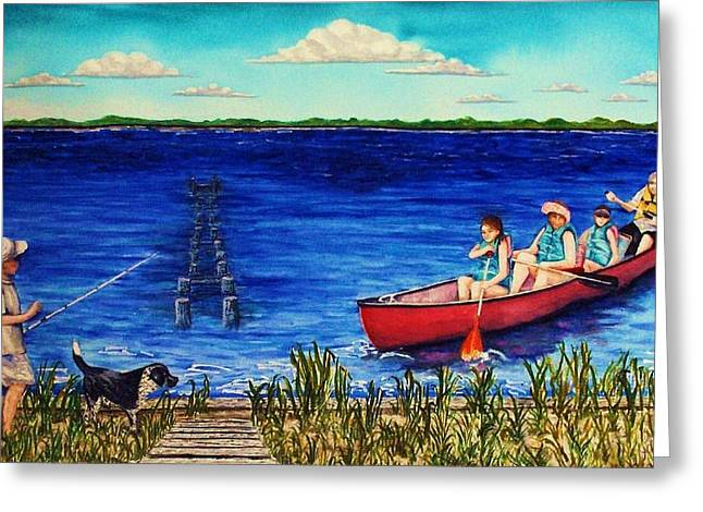 Bouge Sound Summer Outing Greeting Card by Jeanette Stewart