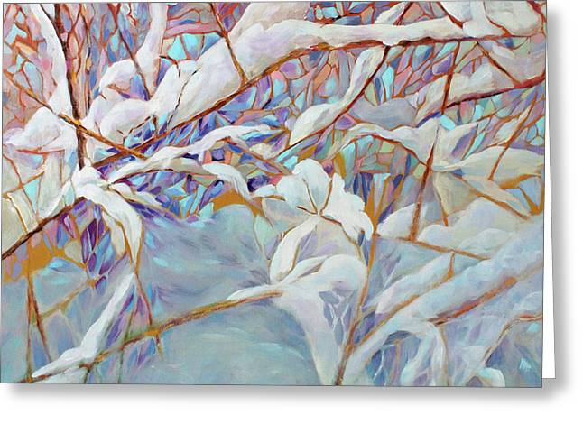 Greeting Card featuring the painting Boughs In Winter by Joanne Smoley