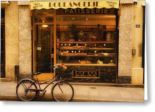 Boulangerie And Bike Greeting Card