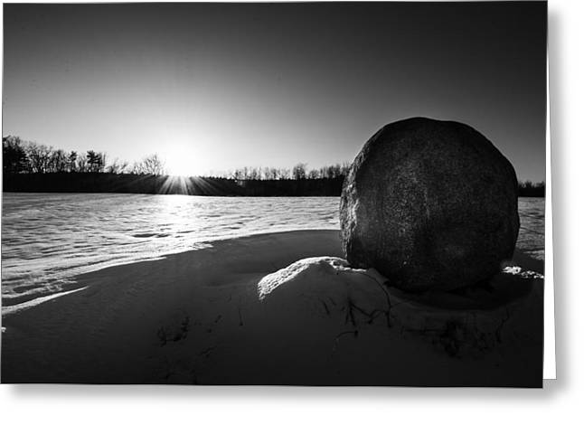 Boulder At Sunset Greeting Card