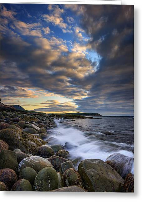 Boulder Beach Greeting Card by Rick Berk