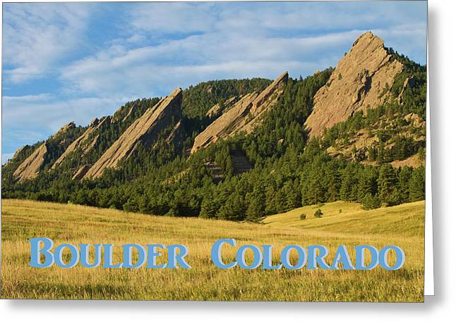 Greeting Card featuring the photograph Boulder Colorado Poster 1 by James BO Insogna