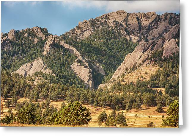 Greeting Card featuring the photograph Boulder Colorado Rocky Mountain Foothills by James BO Insogna