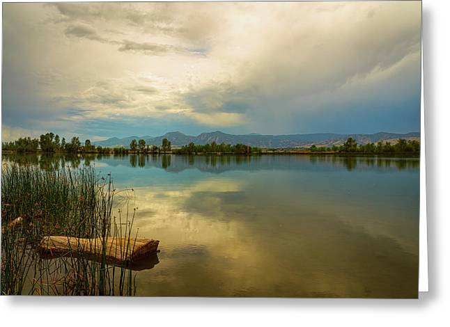 Greeting Card featuring the photograph Boulder County Colorado Calm Before The Storm by James BO Insogna