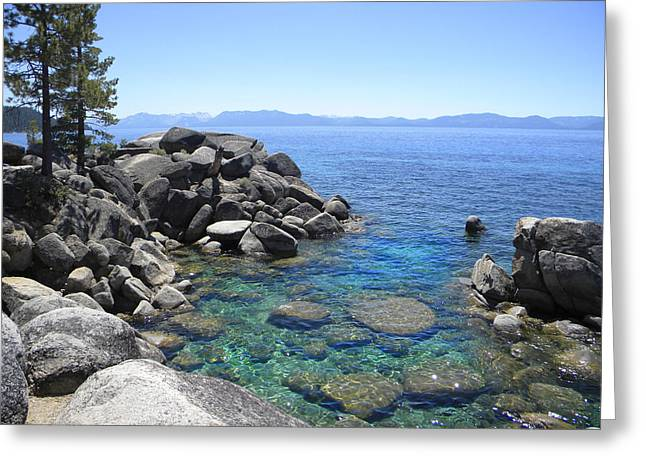 Boulder Cove On Lake Tahoe Greeting Card