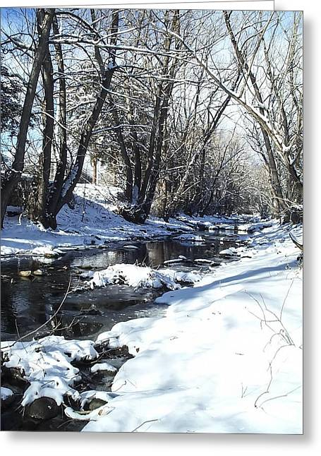 Boulder Creek After A Snowstorm Greeting Card