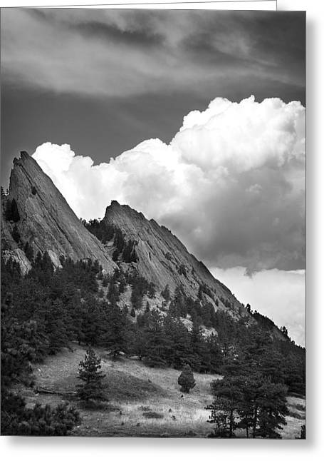 Recently Sold -  - Geology Photographs Greeting Cards - Boulder Flatirons 2 Greeting Card by Marilyn Hunt