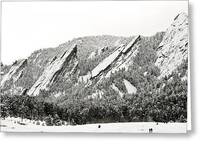 Boulder Flatirons Colorado 1 Greeting Card by Marilyn Hunt