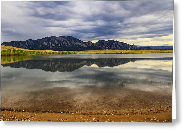 Boulder Flatirons From Marshall Lake Greeting Card by Juli Ellen