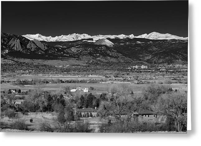Boulder Overlook Greeting Card by Marilyn Hunt