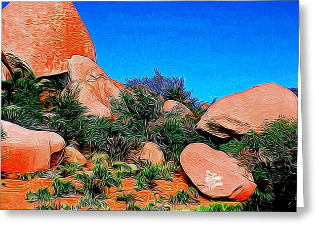 Boulders 7 In Abstract Greeting Card