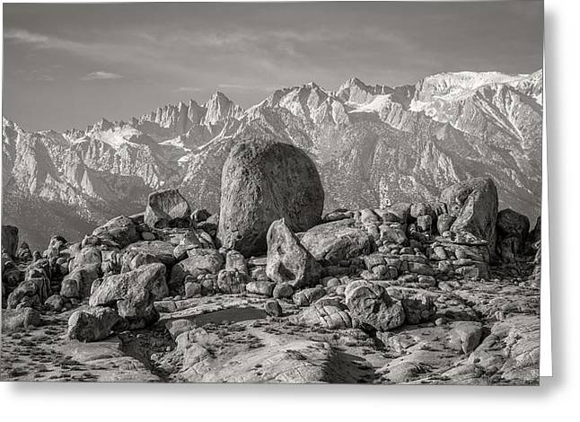 Boulders And Mountains - Sierra Nevada Greeting Card by Joseph Smith