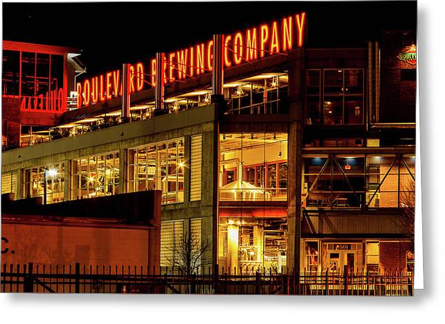 Boulevard Beer Sign Greeting Card