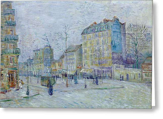 Boulevard De Clichy, 1887 Greeting Card by Vincent Van Gogh