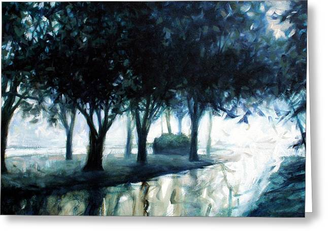 Boulevard Greeting Card by Kevin Lawrence Leveque