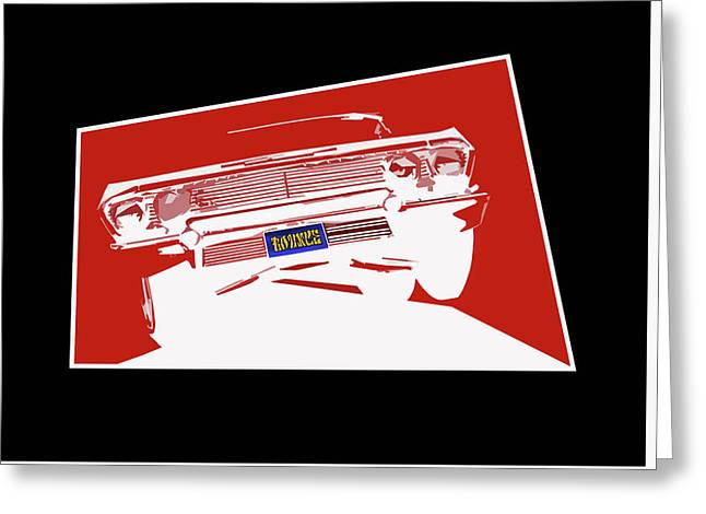 Bounce. '63 Impala Lowrider. Greeting Card by MOTORVATE STUDIO Colin Tresadern