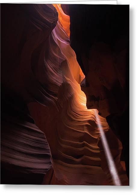 Bouncing Light - Antelope Canyon - Arizona Greeting Card