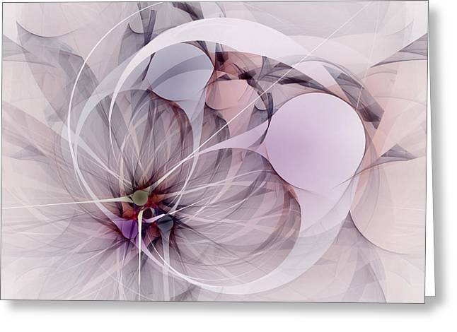 Greeting Card featuring the digital art Bound Away - Fractal Art by NirvanaBlues