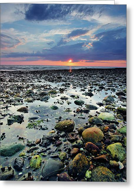 Bound Brook Sunset II Greeting Card by Rick Berk
