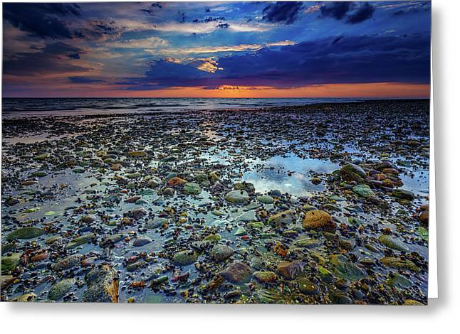 Bound Brook Sunset Greeting Card by Rick Berk
