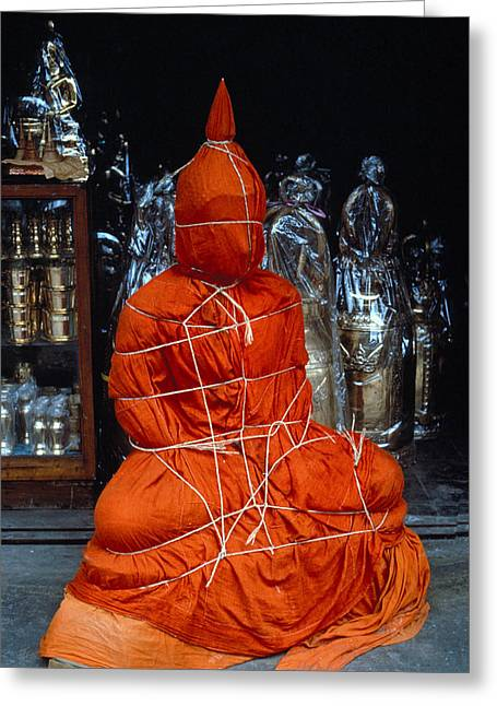 Bound Buddha Greeting Card by Carl Purcell