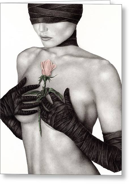 Figurative Greeting Cards - Bound by the Past Greeting Card by Pat Erickson