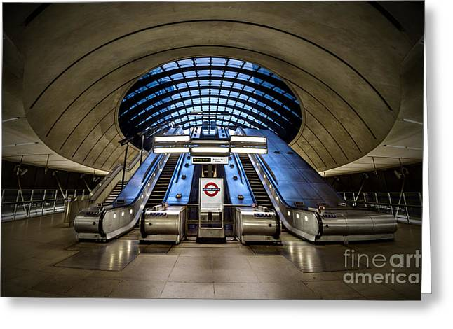 Bound For The Underground Greeting Card by Evelina Kremsdorf