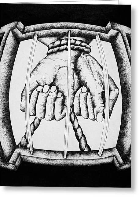 Bound Greeting Card by Omphemetse Olesitse