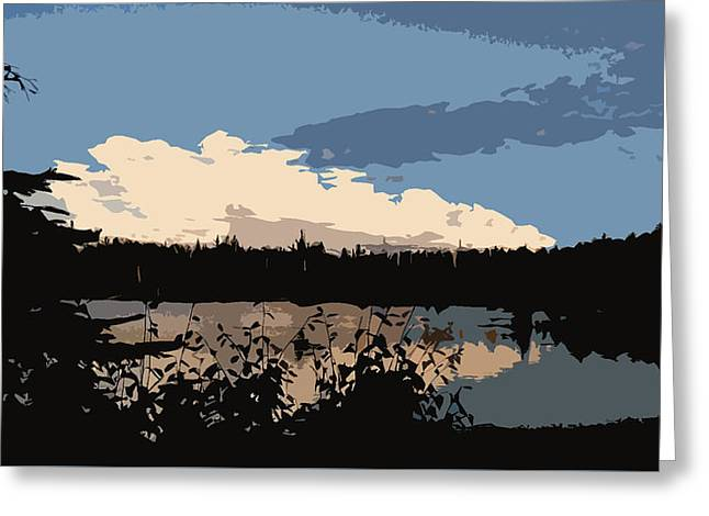 Boundary Waters Sky Greeting Card by Gabrielle Anderson