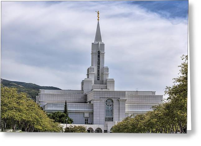 Bountiful Temple In Summer Greeting Card