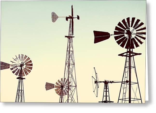 Bountiful Windmills Greeting Card