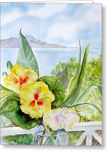 Bounty On The Balcony Greeting Card