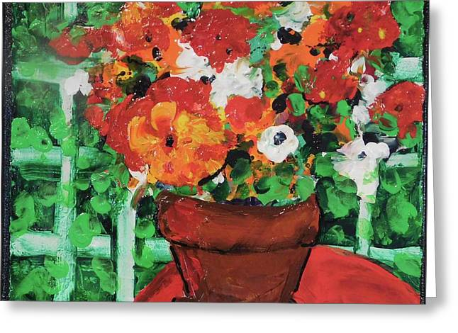 Bouquet A Day Floral Painting Original 59.00 By Elaine Elliott Greeting Card by Elaine Elliott