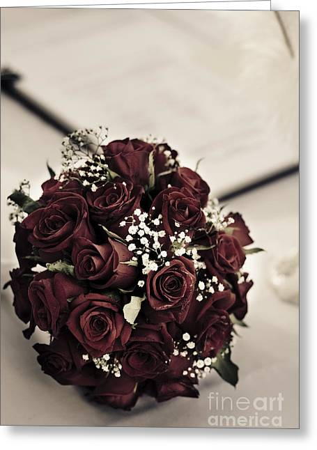 Bouquet And Wedding Register Greeting Card