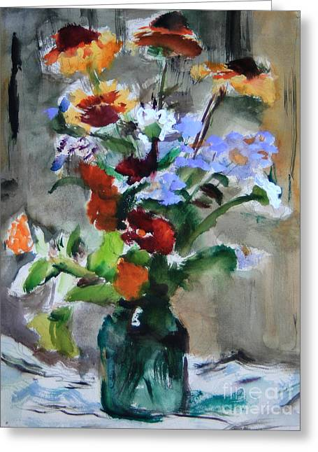 Bouquet Greeting Card by Andrey Semionov