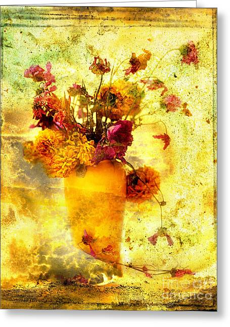 Bouquet Greeting Card by Bernard Jaubert