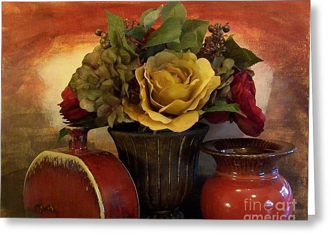 Bouquet Decor Ll Greeting Card by Marsha Heiken