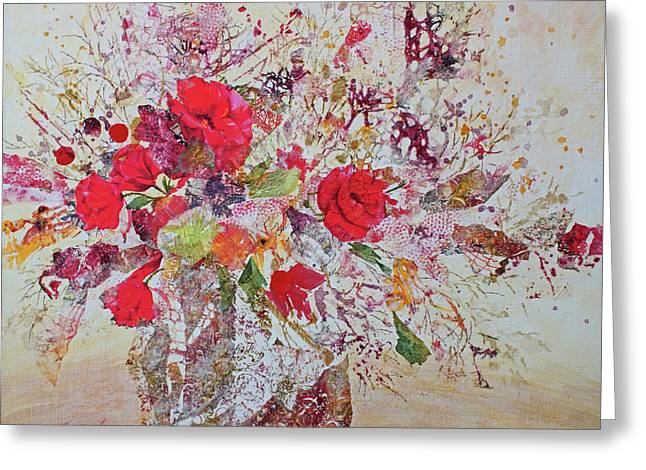 Greeting Card featuring the painting Bouquet Desjours by Joanne Smoley