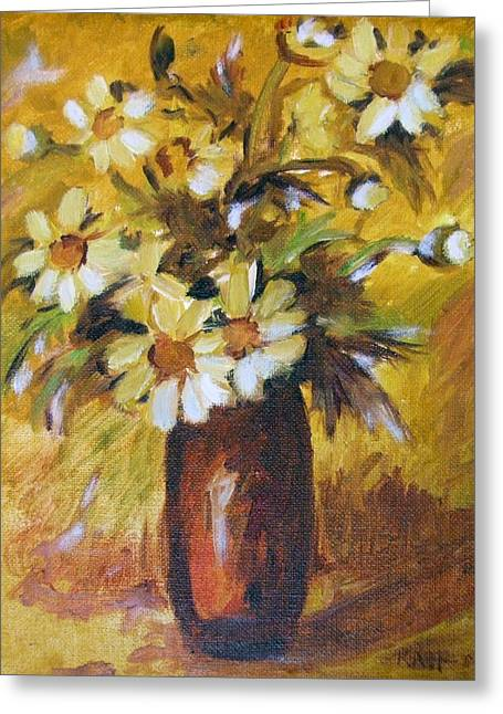 Bouquet Flowers Of Gold Greeting Card