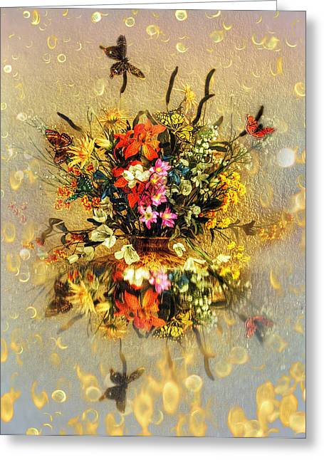 Bouquet  Greeting Card by Gouzel -