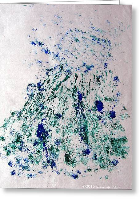 Bouquet Greens And Blues Greeting Card by Bruce Katlin